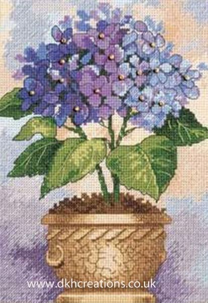 Hydrangea In Bloom Cross Stitch Kit